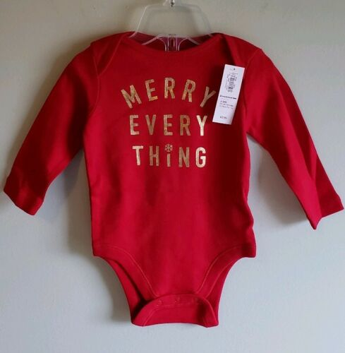 3-6 MONTHS #21418 Details about  /Old Navy Baby Girl LOT OF 2 Christmas Holiday Bodysuits 0-3