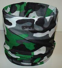 Green Black Camo Tubular Multi Function Headwear Scarf Balaclava Cap Beanie