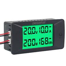 Dc Digital Voltmeter Ammeter 0 300v 50a 100a 300a Voltage Amps Power Kwh Meter