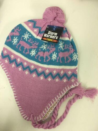 Peruvian Ear Flap Multi Colors Winter Thermal Heated Caps for Kids Boys Girls UK