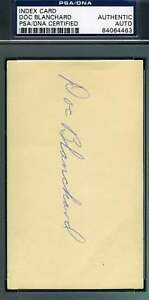 Doc Blanchard Psa Dna Coa Autograph 3x5 Index Card Hand Signed Authentic