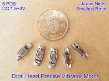 5pcs Dc15v 3v Dual Head Small Vibration Vibrator Vibrating Motor Precise Rotor