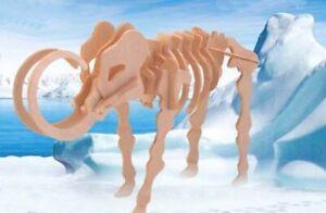 Mammoth-T-Rex-Dinosaur-3D-Wood-Model-Kit-Jurassic-Jigsaw-Intelligence-Puzzle