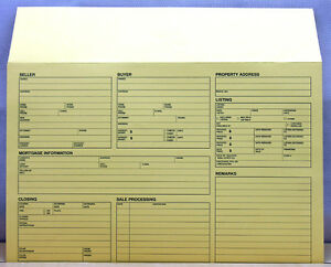 12 real estate file envelope w checklist legal size ebay
