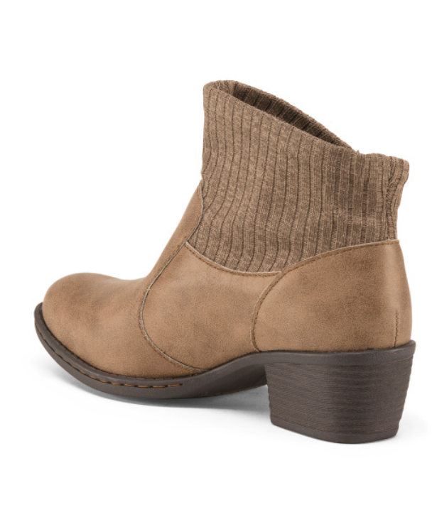 NEW BORN B.O.C BENDELL ANKLE BOOTS WOMENS 6 TAUPE Z26717 Z26717 Z26717 SWEATER CUFF BOOTIES 11deba