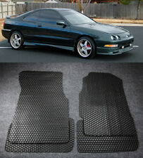 All Weather Black Rubber Floor Mats Liners Front Rear For 94-01 Acura Integra