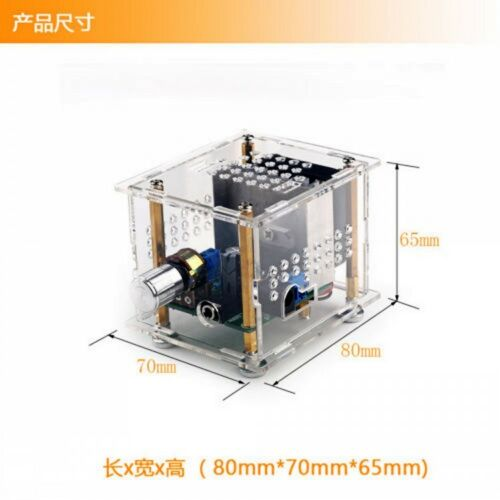 TDA7297 Digital Power Amplifier HiFi Stereo Amp Board With Case 15W×2