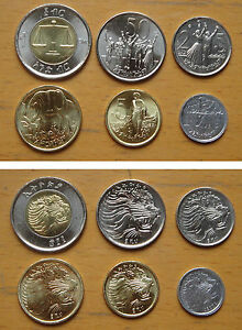 Image Is Loading Ethiopia Coins Set Of 6 Pieces Unc