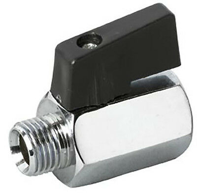 """MINI BALL VALVE 1/4"""" BSPT/BSPP MALE/FEMALE BRASS PLATED LEVER HANDLE 1/4"""""""