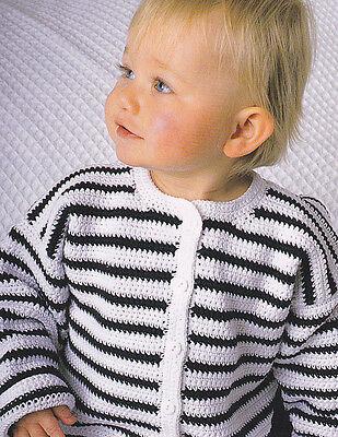 Crochet Pattern ~ Baby Nautical Jacket Sweater ~ Instructions