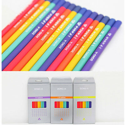 DONG-A i Fable Triangle Wood Pencils 10 pcs - HB