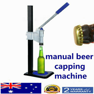 Manual-Bottle-Machine-Brew-Bottle-Cap-Machine-For-Soft-drinks-beer-AU-SHIP