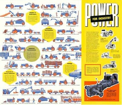 Fordson Farming Power Super Major Dexta Brochure Poster Advert A3