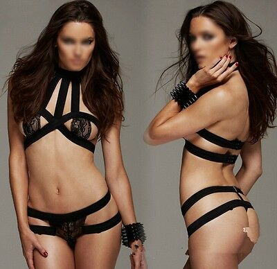 Bondage Bikini Set Nightwear Sexy Lingerie Breast Off Women