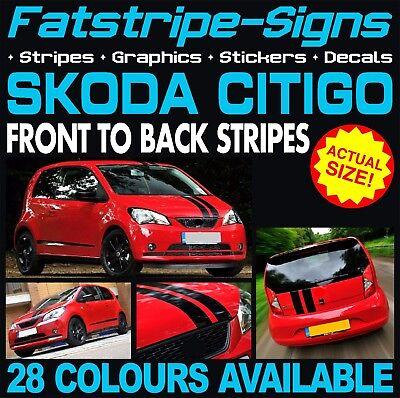 SKODA CITIGO STRIPES GRAPHICS STICKERS DECALS 1.0 SPORT CAR VINYL RACING VIPER