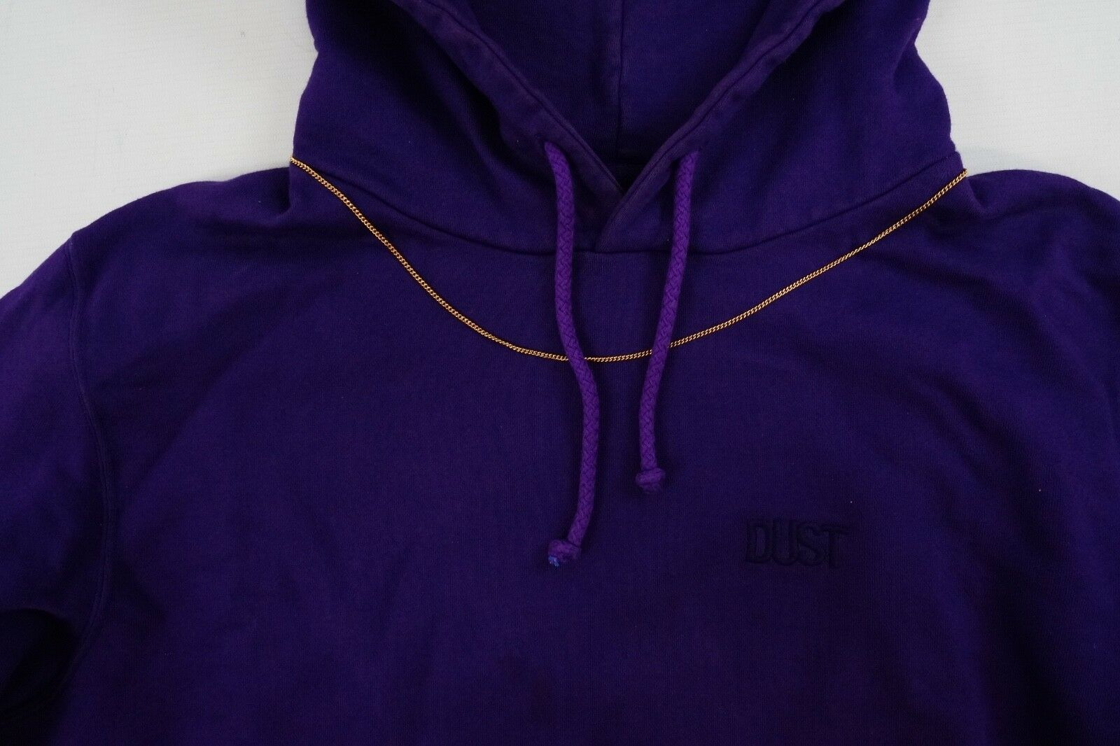 Dust Slogan Embroide Embroide Embroide Hoodie Sweatshirt Pulli mit Kapuze Kette Lila Gr M 831  | Exquisite (in) Verarbeitung  eed10c