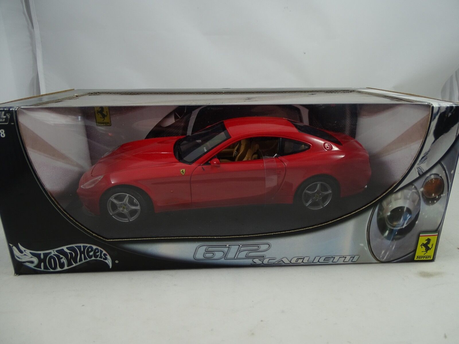 1 18 Hot Wheels  b6047 ferrari 612 Scaglietti rosso-rareza §