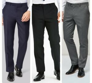 Men-s-New-Wool-Blend-Formal-Suit-Trousers-Regular-Fit-Waist-Sizes-32-034-to-44-034