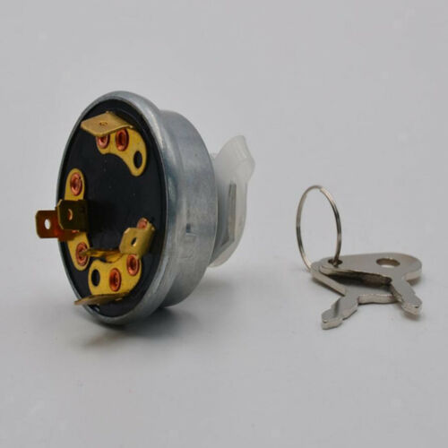 Tractor 4 Position Ignition Key Starter Switch for Lucas 12//24V 128SA Tractor