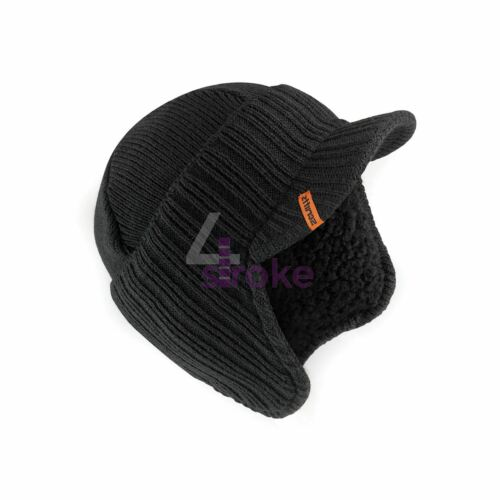 SCRUFFS WARM WINTER PEAKED BEANIE THERMAL INSULATED OUTDOOR BLACK WORK HAT CAP