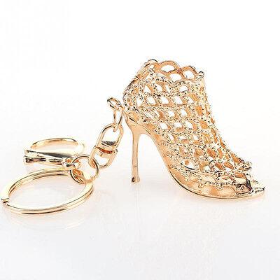 Crystal Shoe High Heel Keyring Pendant Key Bag Chain Ring Keychain Gift