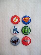 Comic-Con DC Comics Batman Superman Wonder Woman the Flash Button Pin Badge set