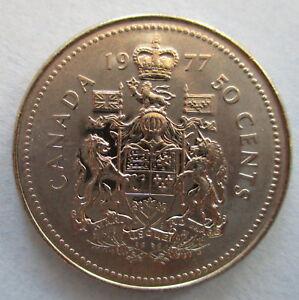 1977-CANADA-50-HALF-DOLLAR-COIN-BRILLIANT-UNCIRCULATED-COIN-MS-63