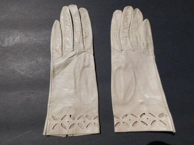 2019 Fashion **designer Ladies Beige Leather Gloves Unlined Size 6