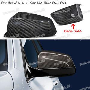 Left Side View Mirror Cover Cap For BMW E60 E63 F06 F07 F12 F13 5 6 7 Series
