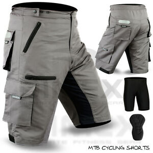 bb3a0202c MTB Cycling Short Off Road Cycle With Liner Shorts CoolMax Padded ...