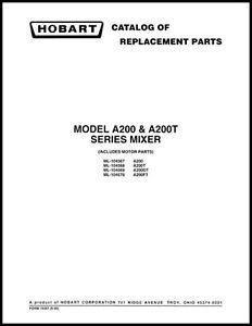 Hobart-A200-A200T-Series-Mixer-Part-Manual