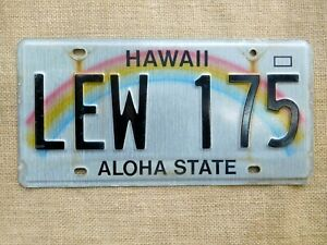 American-number-licence-plate-Hawaii-embossed-vintage-old-car-genuine-USA