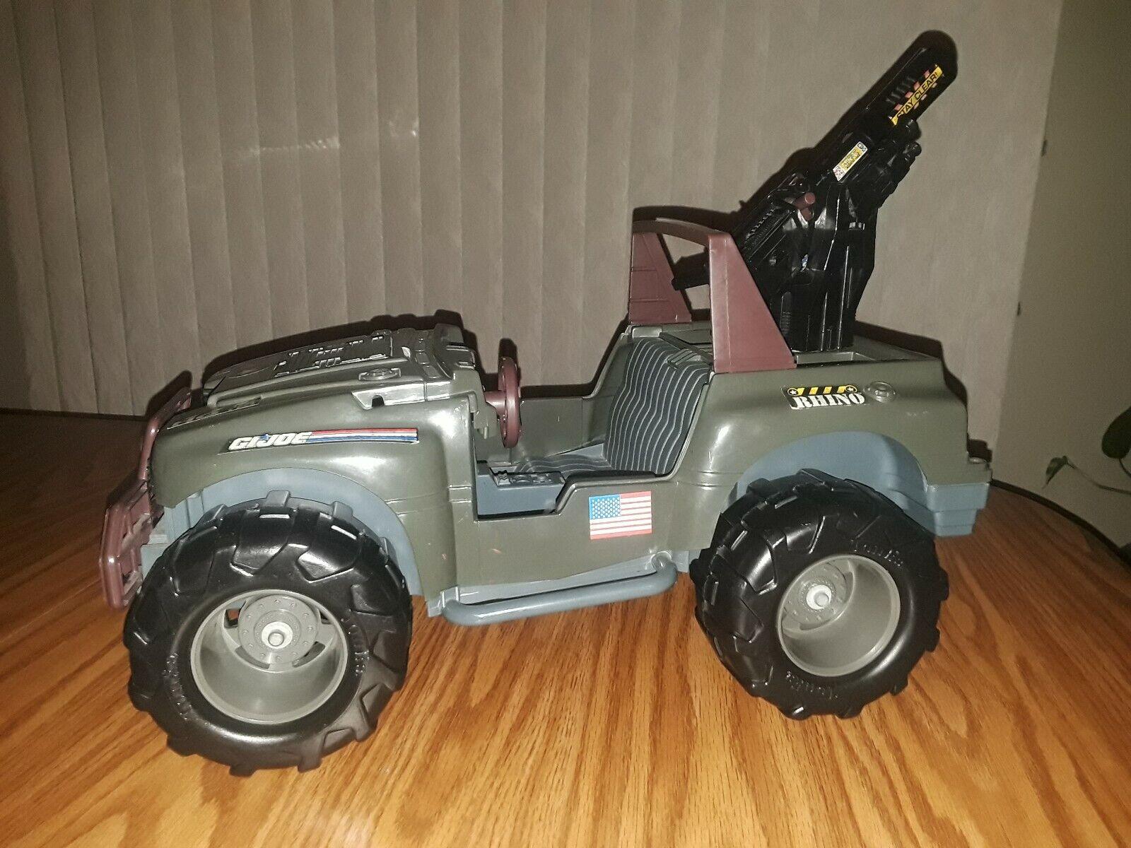 Vintage LARGE GI Joe Rhino Jeep Hasbro 1993 w  redating Cannon