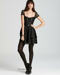 32515fe1803 Image is loading Free-People-Black-Rock-Candy-Lace-dress-size-