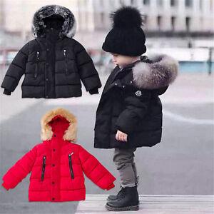 899ff09d73a3 Newborn Toddler Kids Boys Girls Winter Warm Outerwear Hooded Coat ...