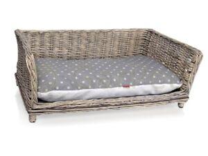 Hundesofa Weide Rattan Weidenkorb Hunde Korb Couch Bett Hundekorb