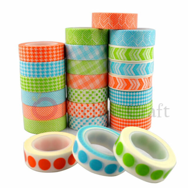 1 Pc Colorful Japanese Washi Tape DIY Scrapbooking Decor Masking Adhesive Tapea