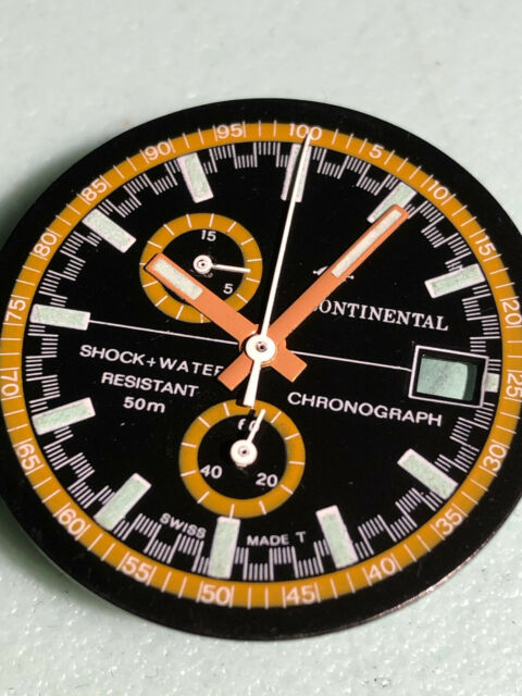 &  1 NOS dial + hands Continental ( Yema)  dia 29.80 mm  for cal . chrono EB8420