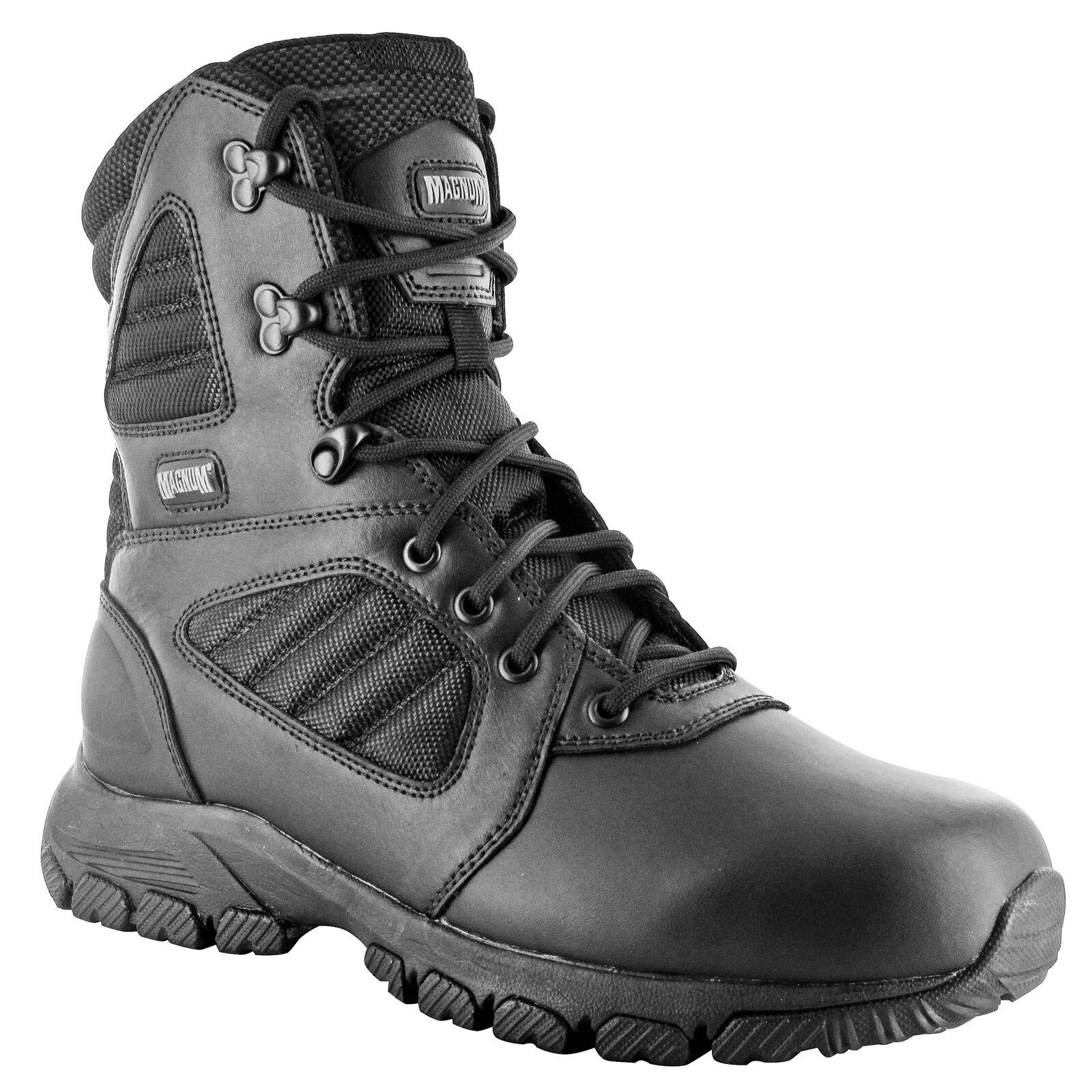 Hi-Tec - Magnum Lynx 8.0 BLACK Side Zip shoes Men's Boots Ranger Security Poli