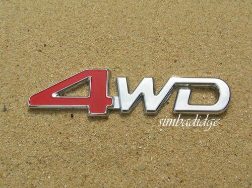 125mm Emblem *NEW* Suit Toyota Landcruiser etc 4WD RED 4 CHROME CAR BADGE