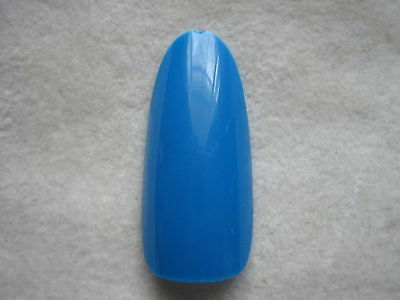 50 x BLUE  FULL OVAL HEAD/ ROUND STILETTO WHOLE NAIL