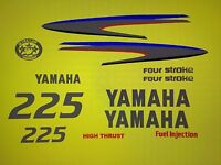 Yamaha Outboard Motor Decal Kit 225 Hp 4 Stroke Kit - Marine Vinyl Not Ink-jet