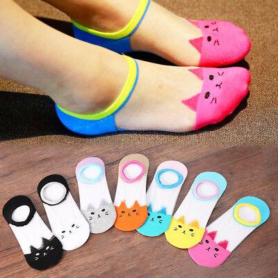 7Colors Cute Girls Funny Hot Sale Summer  Cat Printed Harajuku Ankle Sock