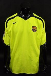 Barca 2005 06 Nike Fc Barcelona Away Shirt Neon Size 2xl Xxl Adults Ebay