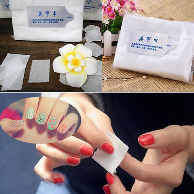 900pc Nail Art Acrylic Polish Lint Paper Wipes Pad Tips Gel Cleaner Remover 2017