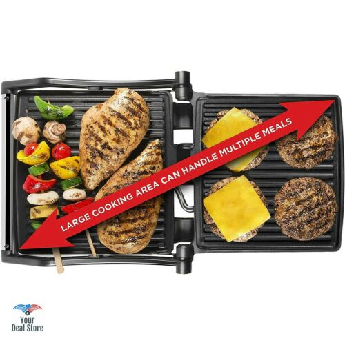 Panini Grill Toaster Press Electric Sandwich Maker Toast Griller Large 4 Slice