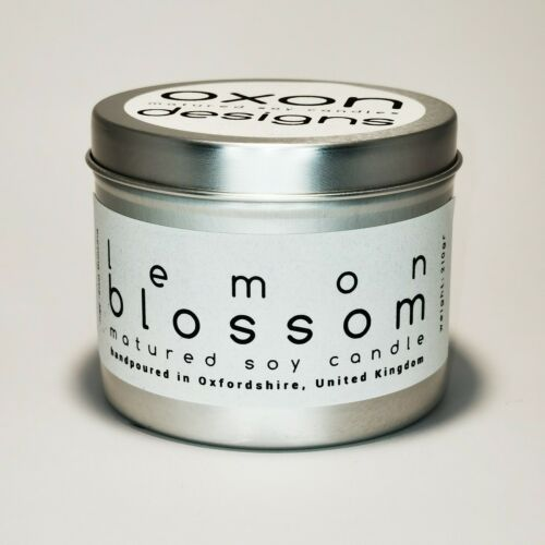Lemon Blossom Soy Candles Vegan Friendly Made in UK! 2 sizes Available