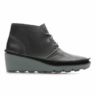 precio competitivo compra genuina salida de fábrica Clarks Damara Ivy Black Leather Women's Ankle Boots Size UK 4D | eBay