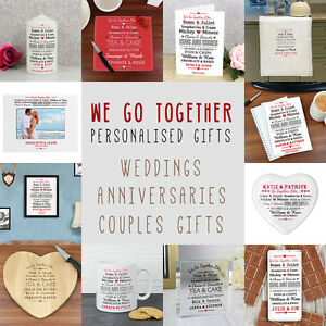 Wedding Gifts For Couples Who Like To Travel : We-Go-Together-Like-Personalised-Gifts-Wedding-Anniversary-Romantic ...
