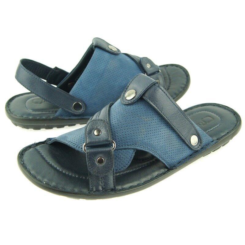48bc3fba1ed Charles Stone Genuine Leather Men s Men s Men s Slingback Slide Sandals